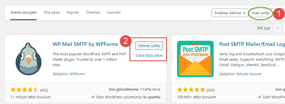 wordpress mail eklentisi